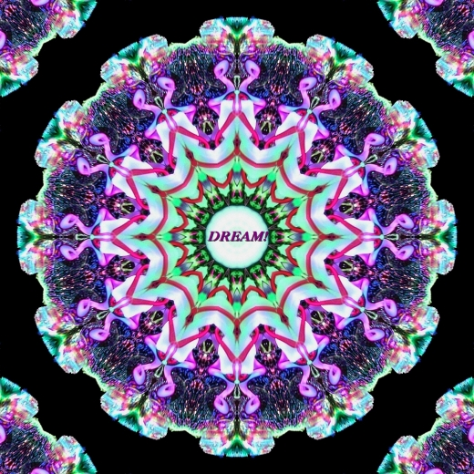 Neon Starburst Dream Mandala by Crystal A Murray
