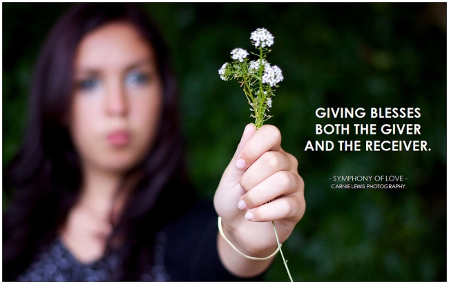 Giving Blesses by Flickr User Pictoquotes