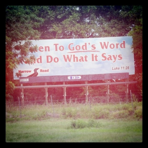 God's Billboard by Flickr user Kevin Hale aka roundedbygravity, CC License = Attribution, Share Alike