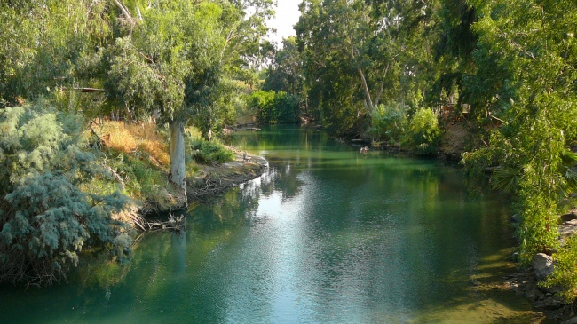 The River Jordan by Flickr User Cycling Man; CC License = Attribution, NonCommerical, No Derivatives