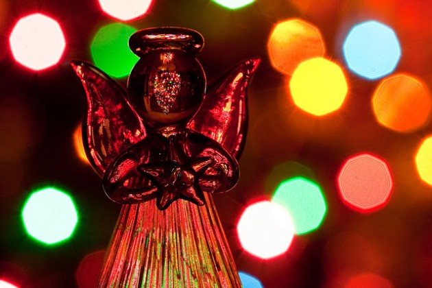 Angel with Lights by Flickr User Lois Elling aka CatDancing, CC License = Attribution, Noncommercial