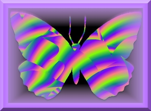 Fractal Butterfly in Purple Frame by Crystal A Murray (C) All Rights Reserved