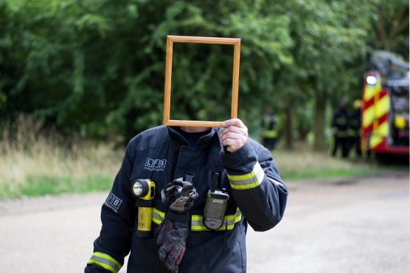 Hidden Fireman by Flickr User Ardin Hasa aka Ardinnnn :),  CC License  = Attribution, Noncommercial, Share Alike