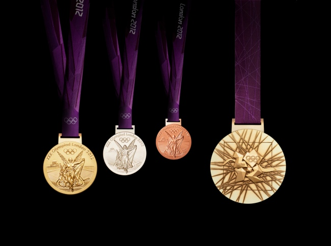 Olympic Medals by Flickr User  Welsh Government / Llywodraeth Cymru, CC License = Attribution, Noncommercial, No Derivative Works