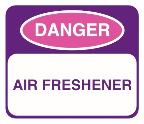 Air Freshener Warning by Flickr User Environmental Illness Network, CC License = Attribution, Noncommercial, No Derivative Works