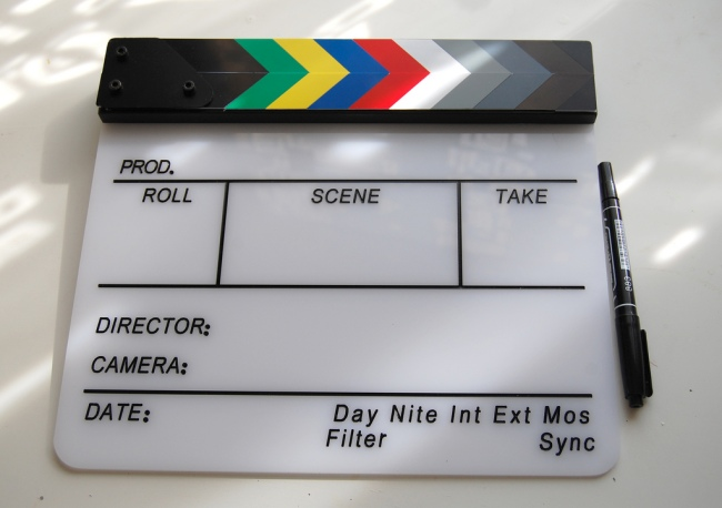 Clapperboard by Flickr User Kirill Proskurin, CC License = Attribution