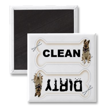 Clean Dirty Magnet by Flickr User Lindee Photo Designs, CC License = Attribution, Noncommercial, No Derivative Works