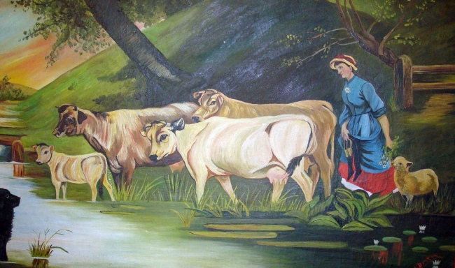 Cow Painting by Flickr User Svadilfari, CC License = Attribution, No Derivative Works