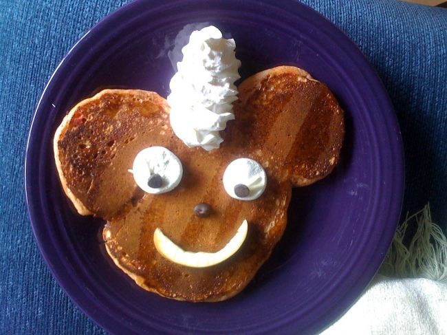 Pancake Face by Flickr User Kevin Severud, CC License = Attribution, Share Alike