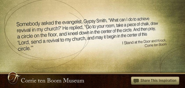 Revival Prayer by Flickr User Corrie ten Boom Museum, CC License = Attribution, Noncommercial, No Derivative Works