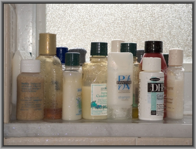 Shampoo Bottles by Flickr User Eric Mesa, CC License = Attribution, Noncommercial, Share Alike