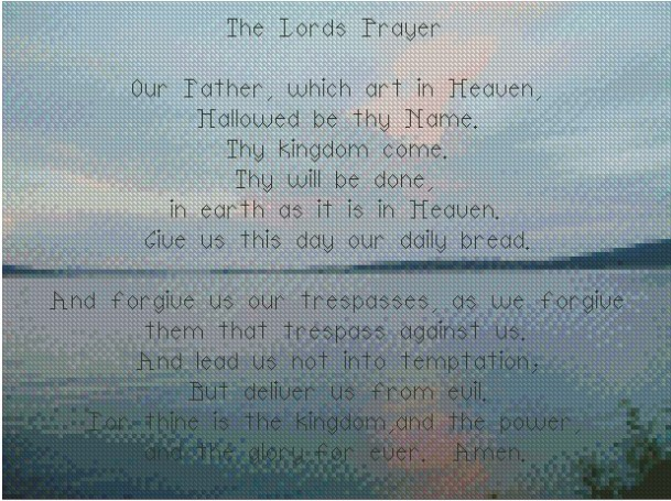 The Lord's Prayer by Flickr User Elaine Layden, CC License = Attribution, Noncommercial, Share Alike
