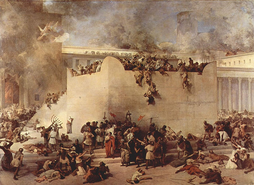 Destruction of the Jerusalem Temple by Flickr User marsmettnn tallahassee, CC License = Attribution, Noncommercial, Share Alike