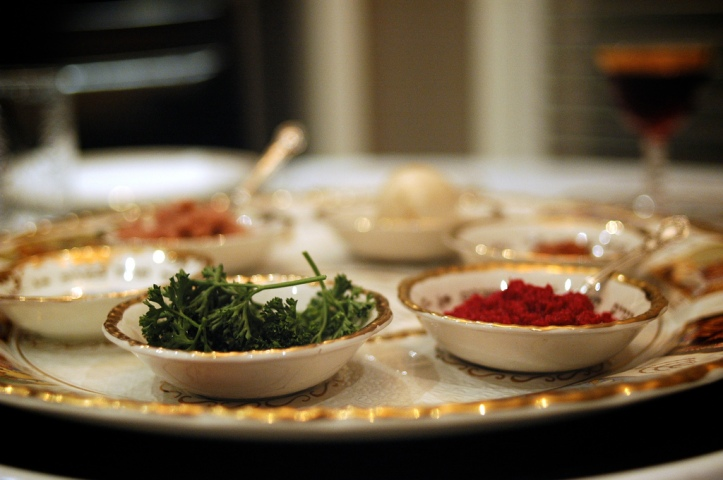 Seder Plate by Flickr User Dara Skolnick, CC License = Attribution, No Derivative Works