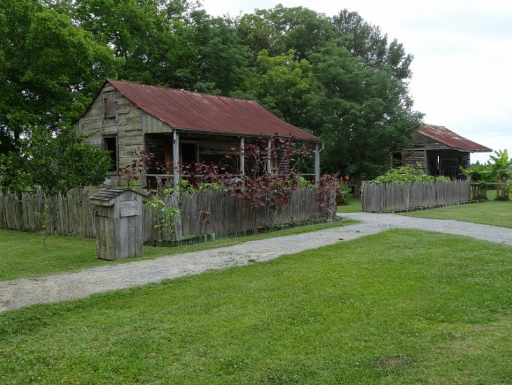 Slave Cabins in Tennessee by Flickr User denisbin, CC License = Attribution, No Derivative Works