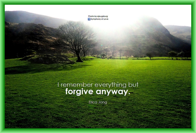 Forgive Anyway Quote by Flickr User BK of Symphony of Love, CC License = Attribution, Share Alike