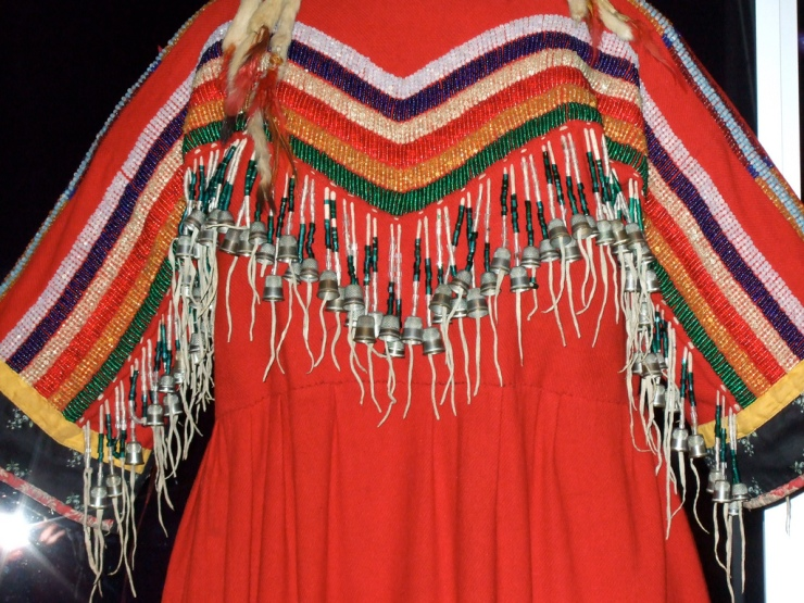 "NMAI_Woman's ""Indian Cloth"" Dress (Thimble Fringe) by Flickr User Lia, CC License = Attribution, Noncommercial, Share Alike"