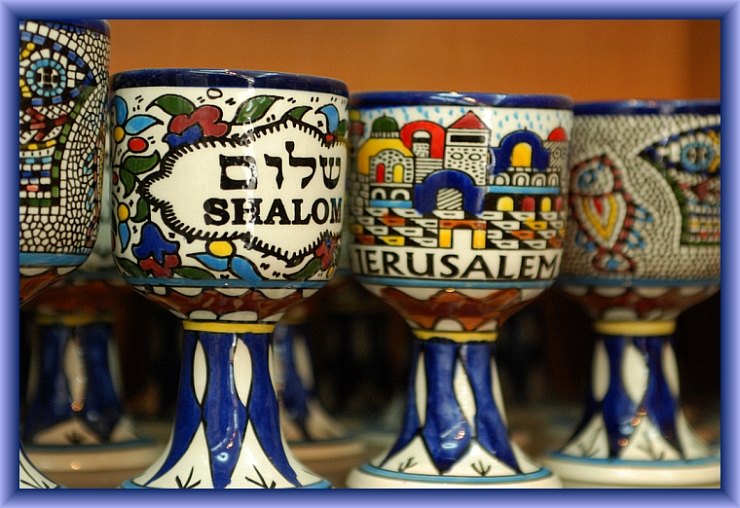 Shalom Cups by Flickr User W Keown, CC License = Attribution