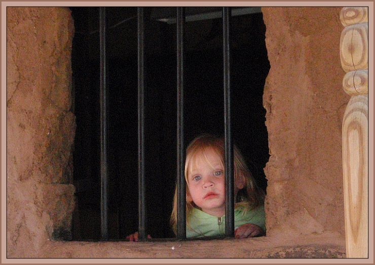 Our Great Niece, Elie, in Tombstone (AZ) Jail by Crystal A Murray, All Rights Reserved