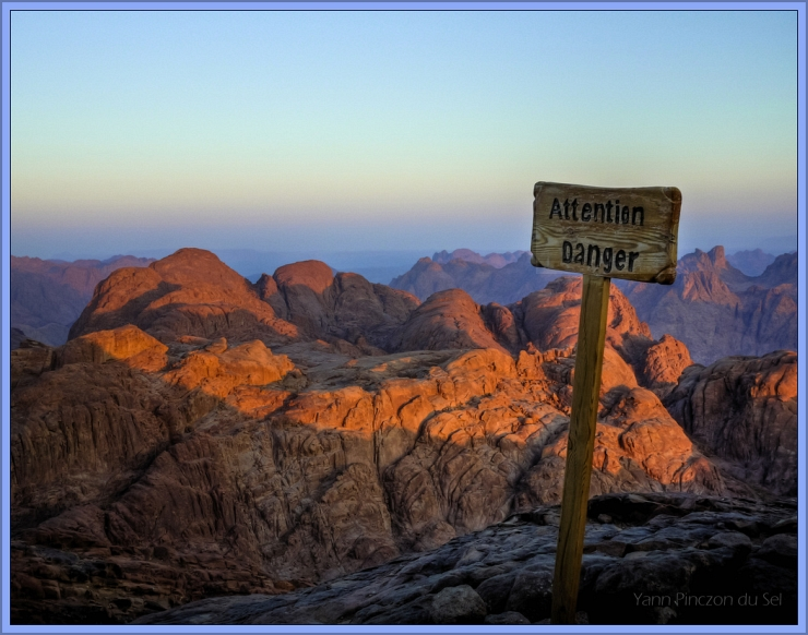 Mt Sinai by Sunrise by Flickr User Yann Pinczon du Sel, CC License = Attribution, Noncommercial, Share Alike