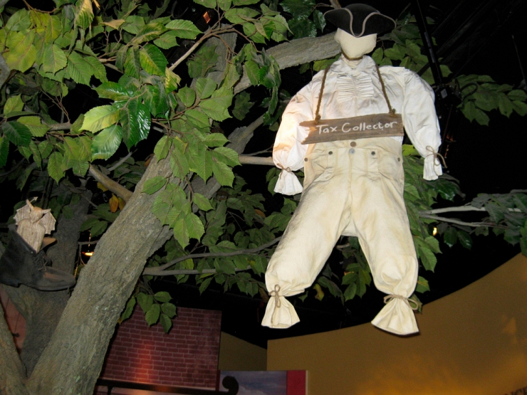 Tax Collector Strung Up by Flickr User Rosa Say, CC License = Attribution, Noncommercial, No Derivative Works