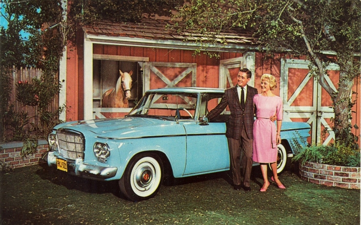 1962 Studebaker Lark Skytop Hardtop on Set of Mr. Ed TV Show by Flickr User Alden Jewell, CC License = Attribution