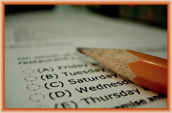 Exams Start Now by Flickr User Ryan M aka shinealight, CC License = Attribution, Share Alike