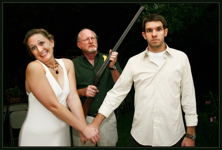 Shotgun Wedding by Flickr User Matthew C Wright, CC License = Attribution, Noncommercial, Share Alike