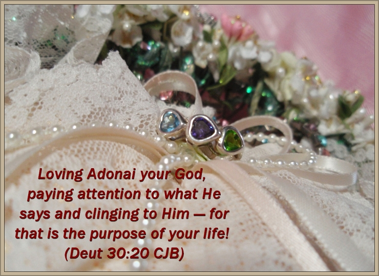 Hearts and Lace with CJB Scripture Deut 30-20 by Crystal A Murray, CC License = Attribution, Noncommercial, Share Alike