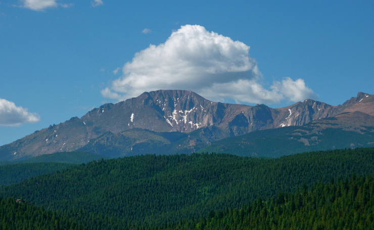 Pike's Peak 14,110 Feet by Flickr User carfull...Cowboy State-r, CC License = Attribution, Noncommercial, No Derivative Works
