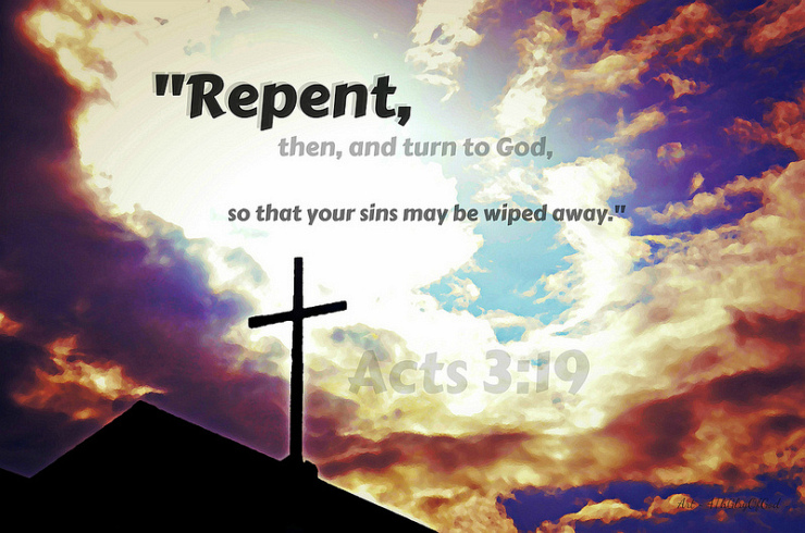 Repent, Then, And Turn to God by Flickr User Sharon of Art4TheGlryOfGod, CC License = Attribution, No Derivative Works