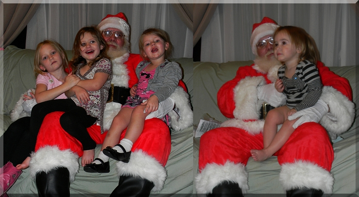 Uncle Santa David with Elie, Leona, Sinniah, and then with Wiley Love, Images by Candiece Nelson, All Rights Reserved