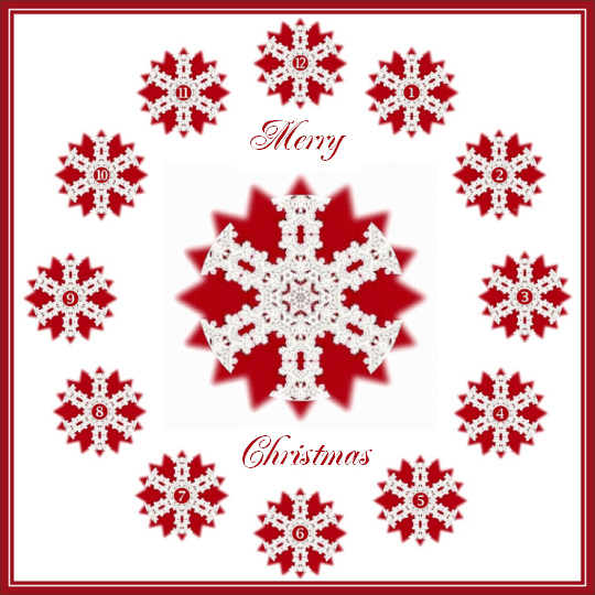 Christmas Crochet Clock Face by Crystal A Murray, All Rights Reserved