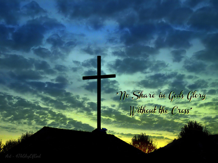 No Share in God's Glory Without the Cross by Flickr User Sharon of Art4TheGlryOfGod, CC License = Attribution, No Derivative Works