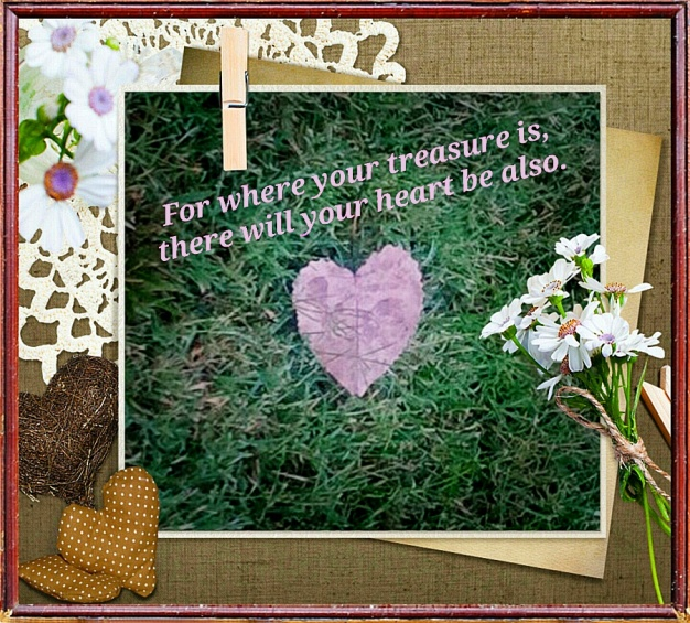Heart Leaf in Fancy Frame with Text